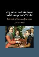 Cognition and Girlhood in Shakespeare s World PDF