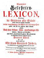 Allgemeines Gelehrten LEXICON PDF