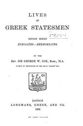 Lives of Greek Statesmen: Second Series