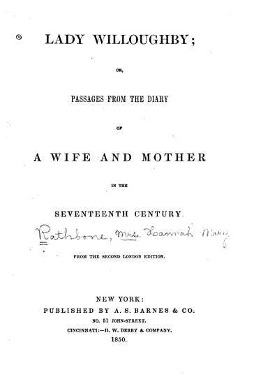 Lady Willoughby PDF