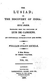 The Lusiad: or, The discovery of India: an epic poem, Volume 3