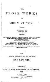 The prose works of John Milton...: Volume 3