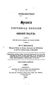 An Introduction to Byrom's Universal English Short-hand: For the Use of Schools, and Private Tuition