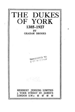 The Dukes of York, 1385-1927