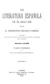 La literatura española en el siglo XIX: Volúmenes 1-3