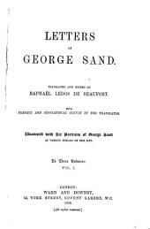 Letters of George Sand: Volume 1