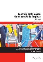UF1094 - Control y distribución de un equipo de limpieza