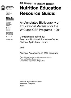 Nutrition Education Resource Guide PDF