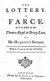 The lottery. A farce, etc. By Henry Fielding
