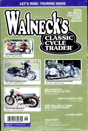 WALNECK S CLASSIC CYCLE TRADER  JUNE 2002 PDF