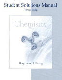 Student Solution Manual to Accompany Chemistry