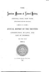 The ... Annual Report of the American Museum of Natural History