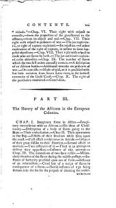 An essay on the slavery and commerce of the human species, particularly the African: translated from a Latin dissertation, which was honoured with the first prize in the University of Cambridge, for the year 1785