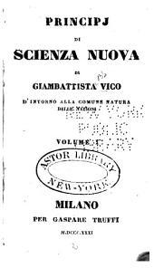 Principi di Scienza nuova: Volume 1