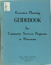 Prevention Planning Guidebook for Community Services Programs in Wisconsin PDF
