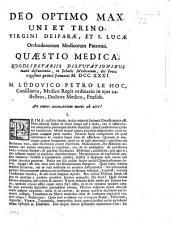 Resp. Quæstio medica, L. P. Le Hoc Præs., An omnes animantium motus ab aëre?.