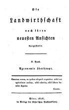 Die    Landwirthschaft nach ihren neuesten Ansichten dargestellt  II  Band Agronomie   berhaupt PDF