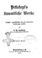 Pestalozzi  s s  mmtliche Werke gesichtet  vervollst  ndigt un mit erl  uternden Einleitungen versehen von L  W  Seyffarth PDF
