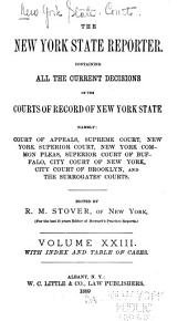 The New York State Reporter: Containing All the Current Decisions of the Courts of Record of New York State ...