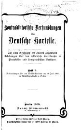 Kontradiktorische Verhandlungen über Deutsche Kartelle: Eisen und Stahl. Zweiter Teil
