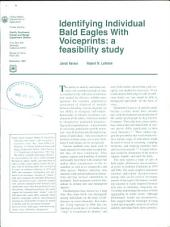 Identifying individual bald eagles with voiceprints: a feasibility study