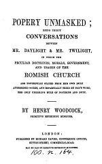 Popery unmasked; 30 conversations