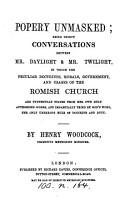 Popery unmasked  30 conversations PDF