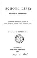 School life  its duties and responsibilities  2 sermons PDF