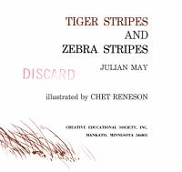 Tiger Stripes and Zebra Stripes PDF