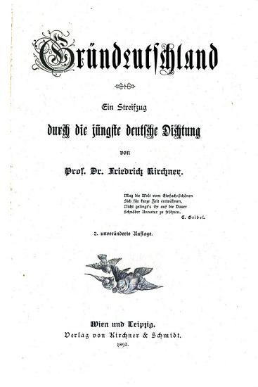 Gr  ndeutschland PDF