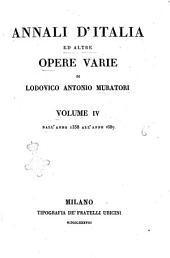 Annali d'Italia ed altre opere varie di Lodovico Antonio Muratori: Dall'anno 1358 all'anno 1687, Volume 4