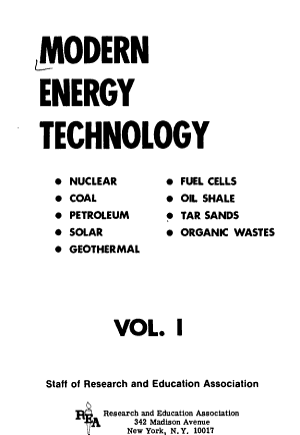 Modern Energy Technology PDF