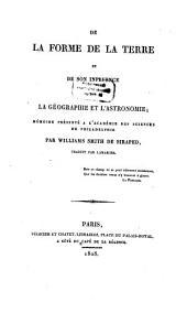 De la forme de la terre et de son influence sur la géographie et l'astronomie