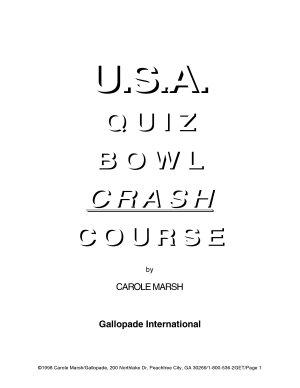 USA Quiz Bowl Crash Course