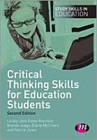 Critical Thinking Skills for Education Students PDF