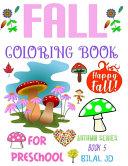 Fall Coloring Book for Preschool