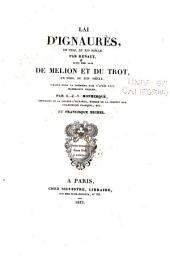 Lai d'Ignaurès, en vers, du XIIe siècle