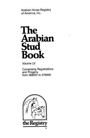 The Arabian Stud Book PDF
