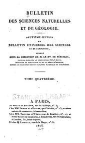 Bulletin des sciences naturelles et de géologie: Volume4