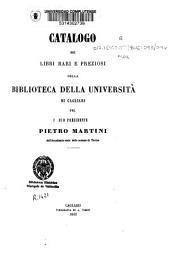 Catalogo del libri rari e preziosi della Biblioteca della Università di Cagliari