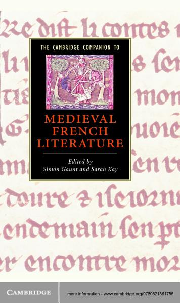 The Cambridge Companion to Medieval French Literature PDF