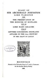 Publications of the Scottish History Society: Volume 26