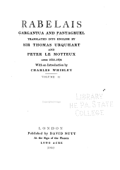 Gargantua and Pantagruel: Books 1-3, tr. by Urquhart