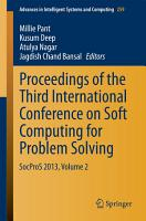Proceedings of the Third International Conference on Soft Computing for Problem Solving PDF