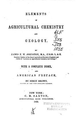 Elements of Agricultural Chemistry and Geology PDF