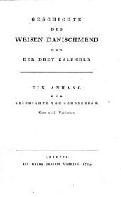Sämmtliche Werke: Geschichte Des Weisen Danischmend, Band 8