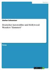 """Deutscher Autorenfilm und Hollywood: Wenders """"Hammett"""""""