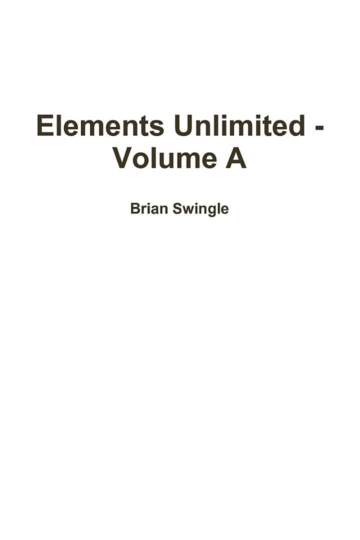 Elements Unlimited - Volume A