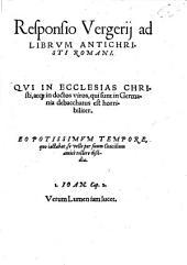 Responsio Vergerii ad Librum Antichristi Romani