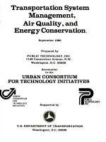 Transportation System Management  Air Quality  and Energy Conservation PDF